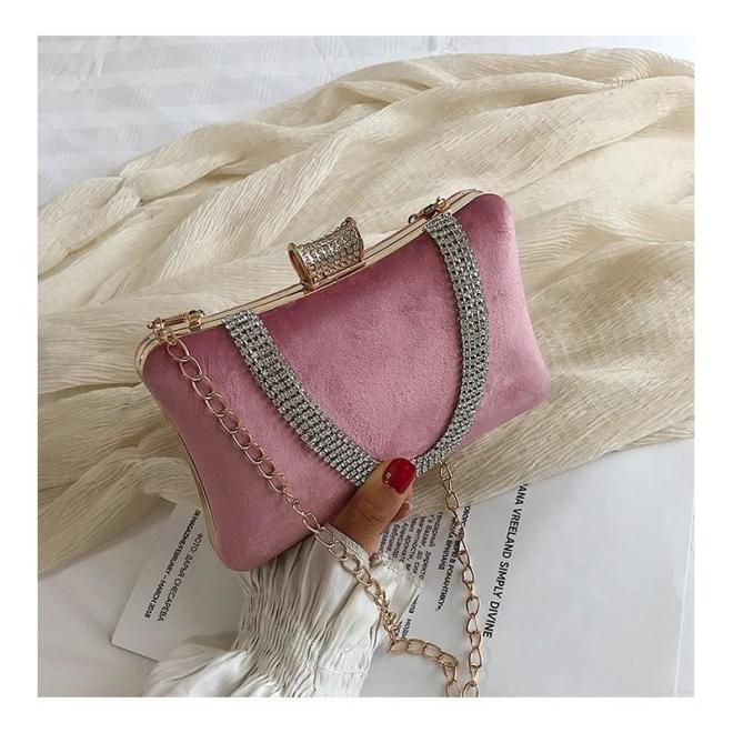 Spoločenská dámska kabelka ružovej farby