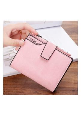 Malá dámska peňaženka ružovej farby