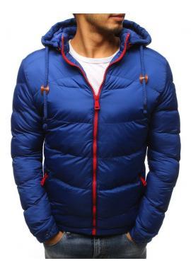 Svetlomodrá prešívaná bunda na zimu pre pánov