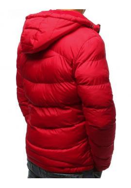 Prešívaná pánska bunda červenej farby na zimu