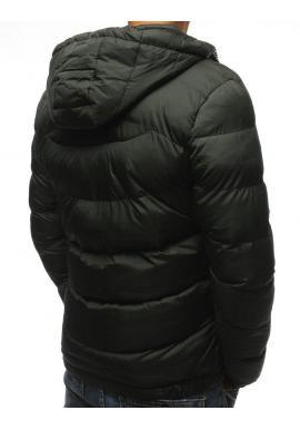 Zelená prešívaná bunda na zimu pre pánov