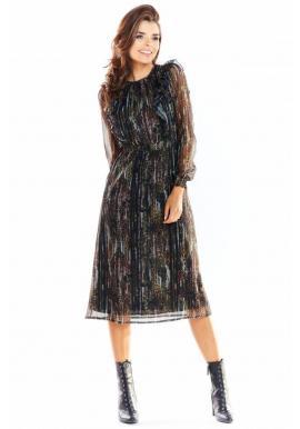 Dámske vzorované šaty s volánmi