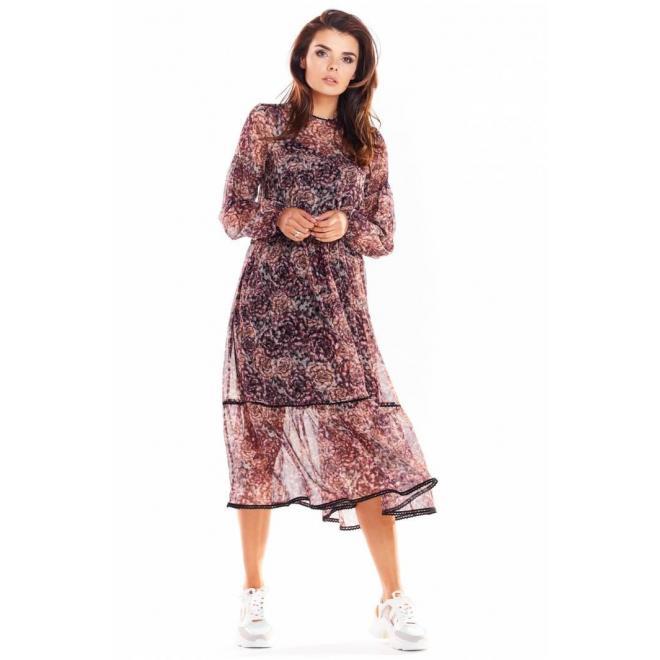 Dvojvrstvové dámske šaty so vzorom