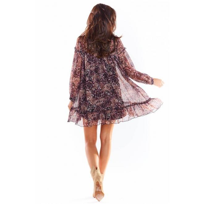 Krátke dámske šaty so vzorom