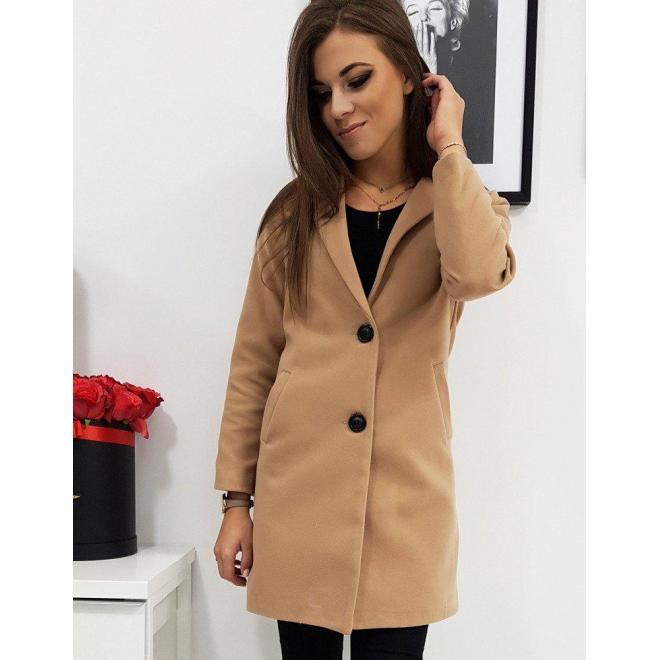Hnedý jednoradový kabát pre dámy