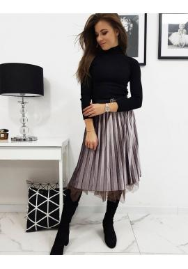 Ružová obojstranná sukňa s trblietkami pre dámy