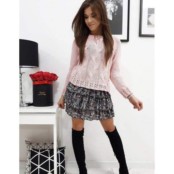 Ružový módny sveter pre dámy