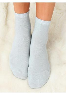 Trblietavé dámske ponožky mätovej farby