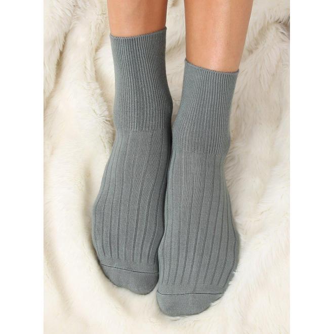 Zelené hladké ponožky pre dámy