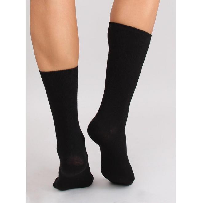 Vysoké dámske ponožky čiernej farby