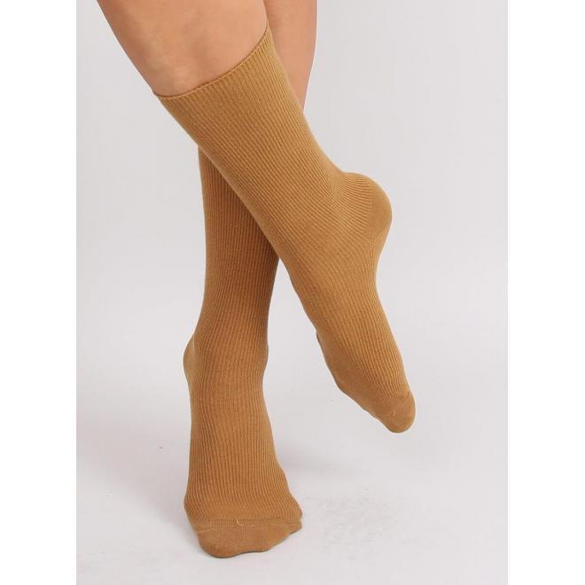 Dámske vysoké ponožky v žltej farbe