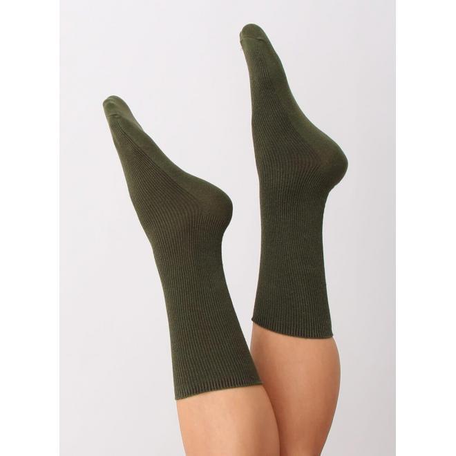 Zelené vysoké ponožky pre dámy