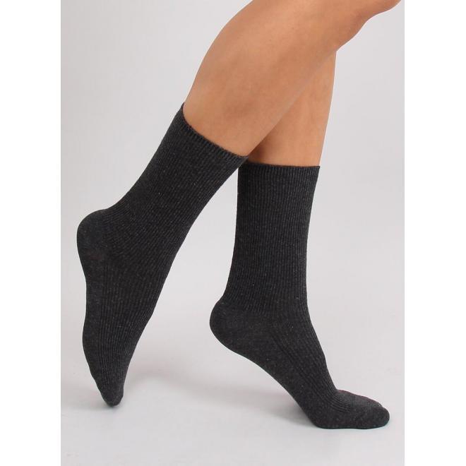 Vysoké dámske ponožky tmavosivej farby