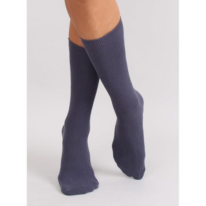 Fialové vysoké ponožky pre dámy