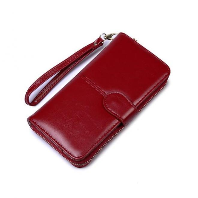 Elegantná dámska peňaženka v červenej farbe