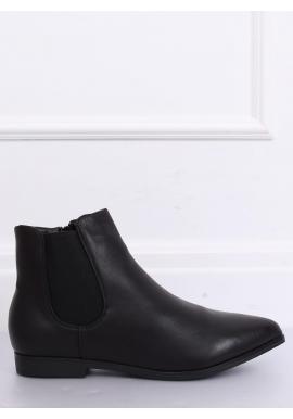Dámske módne poltopánky v čiernej farbe