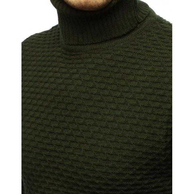 Pánske módne roláky v zelenej farbe