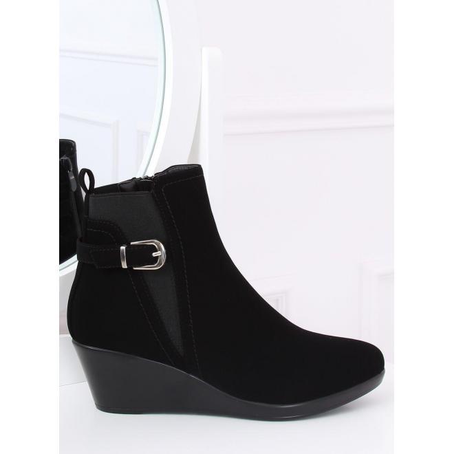 Čierne štýlové topánky na platforme pre dámy
