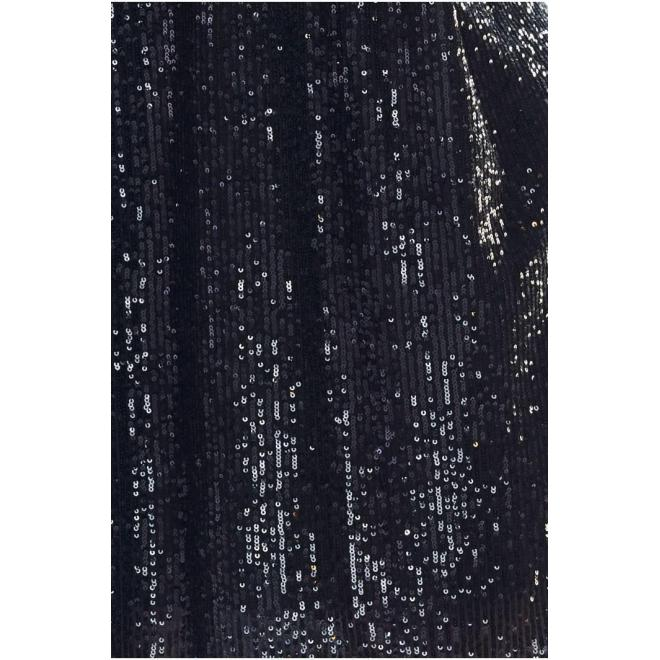 Čierna voľná blúzka s flitrami pre dámy