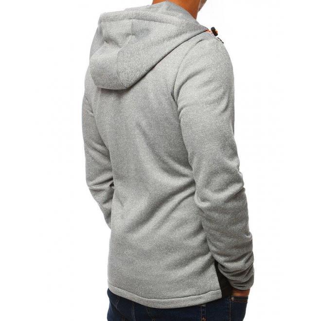 Sivá prešívaná bunda na prechodné obdobie pre pánov