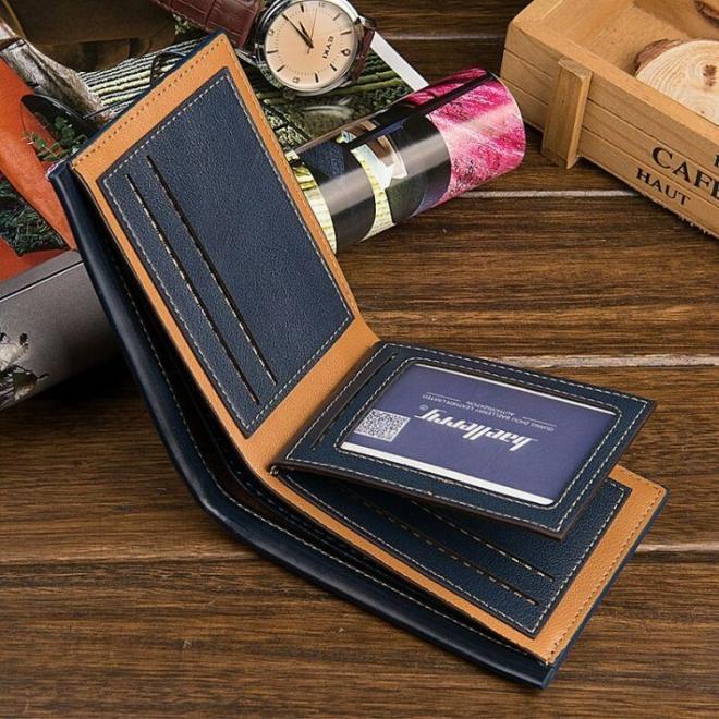 Pánska módna peňaženka z ekokože v svetlohnedej farbe