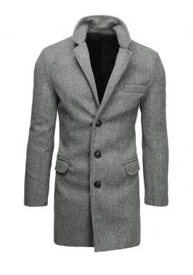 Svetlosivý jednoradový kabát pre pánov