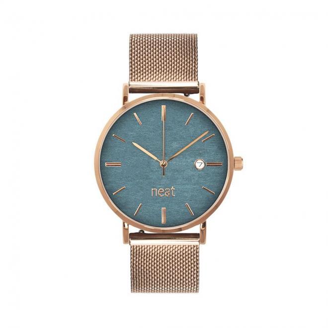 Zlato-sivé módne hodinky s kovovým remienkom pre dámy