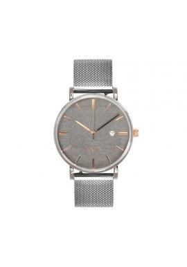 Módne dámske hodinky strieborno-sivej farby s kovovým remienkom