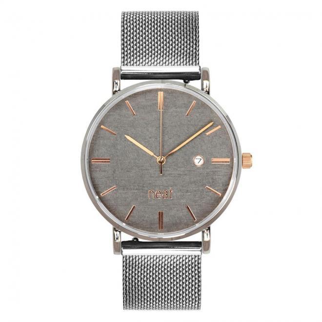 Štýlové pánske hodinky strieborno-sivej farby s kovovým remienkom