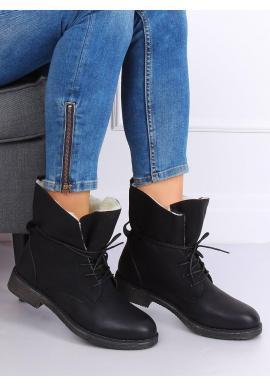 Módne dámske topánky čiernej farby
