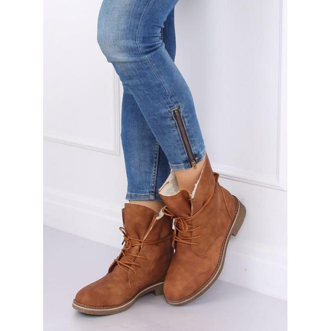 Dámske módne topánky v hnedej farbe