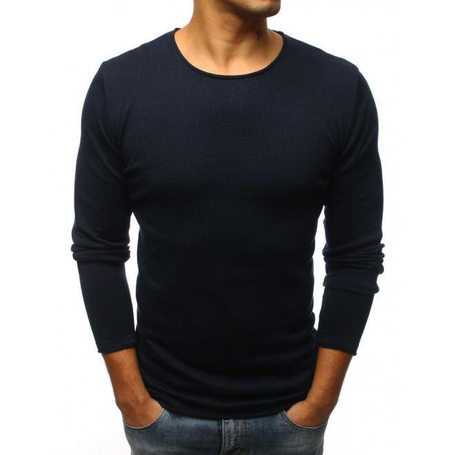 Pánsky štýlový sveter v tmavomodrej farbe