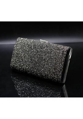 Dámske spoločenské kabelky s brokátom v čiernej farbe
