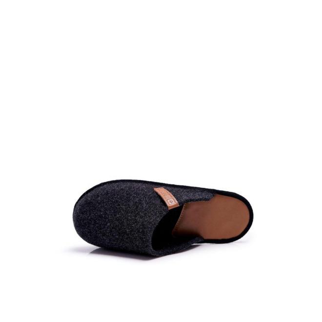 Pánske papuče Big Star v čiernej farbe