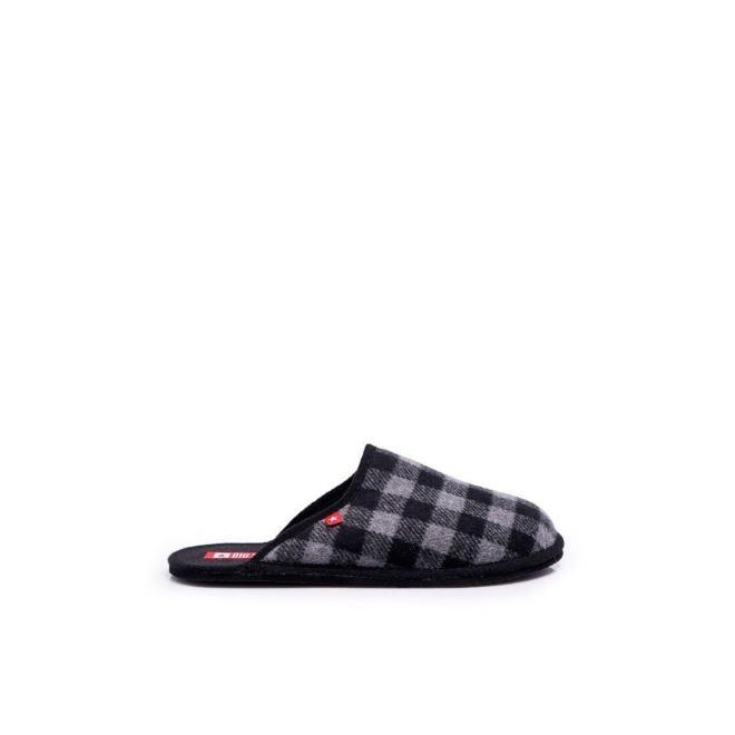 Vzorované pánske papuče Big Star sivej farby