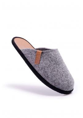 Sivé papuče Big Star pre pánov