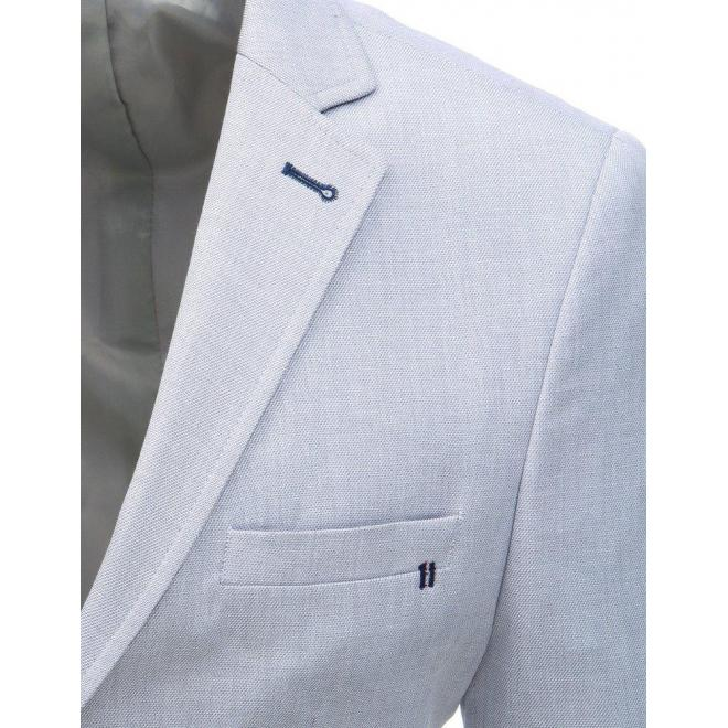 Tmavomodré jednoradové sako s dvoma gombíkmi pre pánov