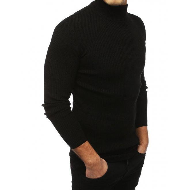 Čierny teplý rolák pre pánov