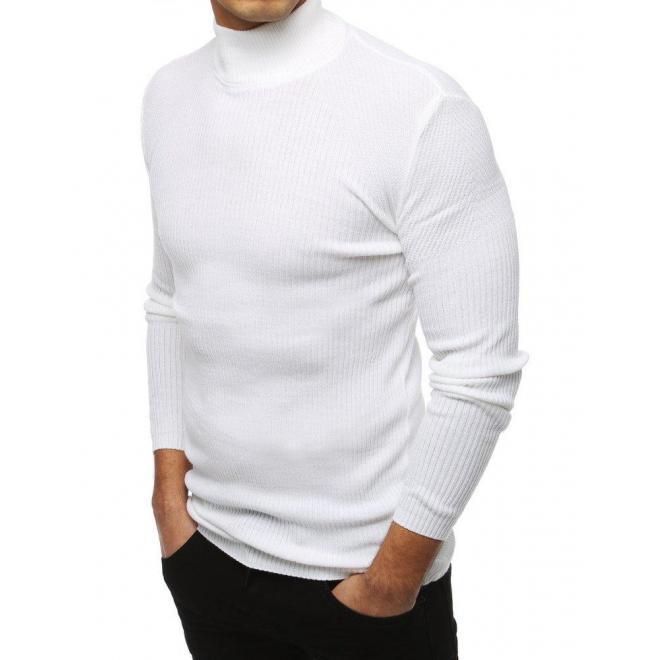 Teplé pánske roláky bielej farby