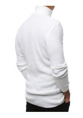 Módny pánsky rolák bielej farby