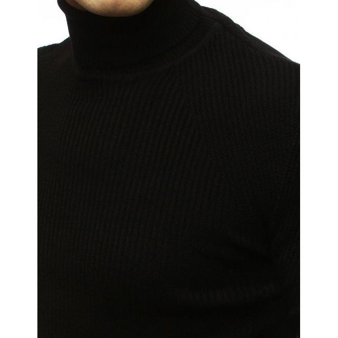 Čierny módny rolák pre pánov