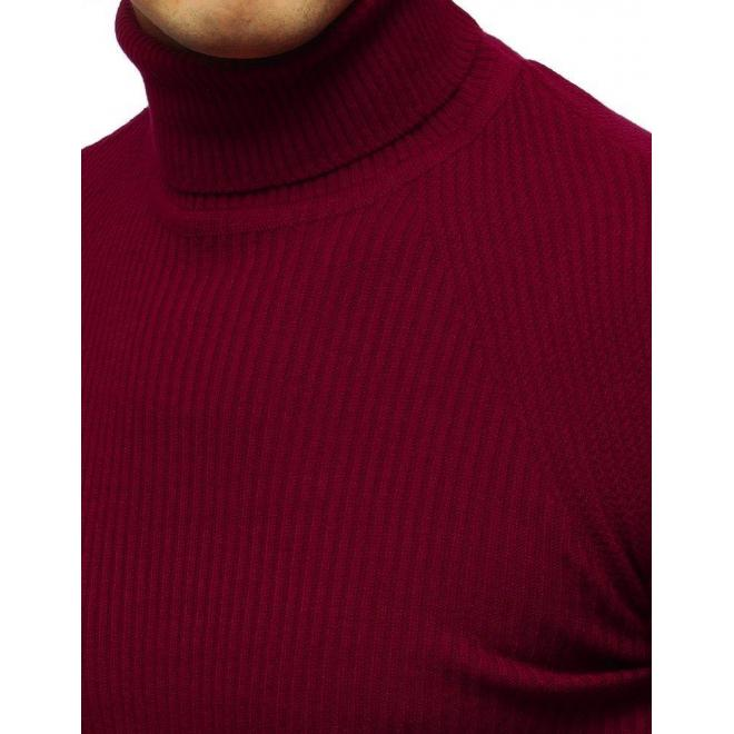 Pánsky módny rolák v bordovej farbe