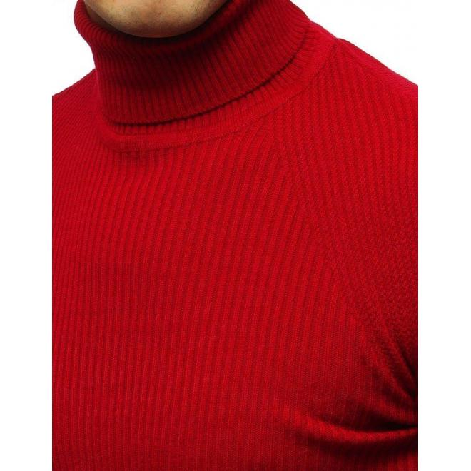 Červený módny rolák pre pánov