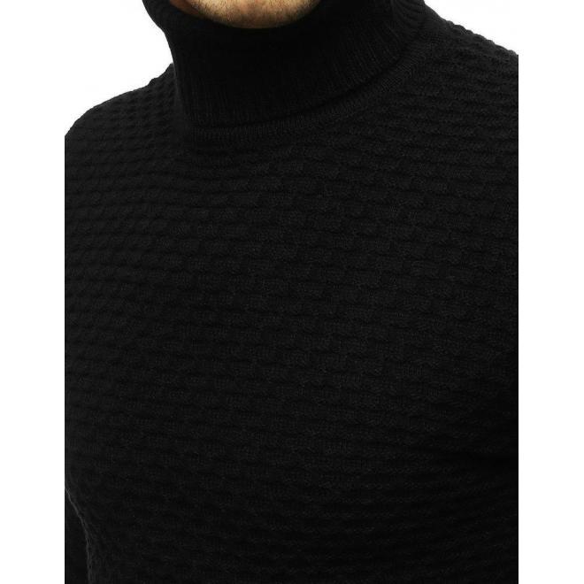 Módny pánsky rolák čiernej farby