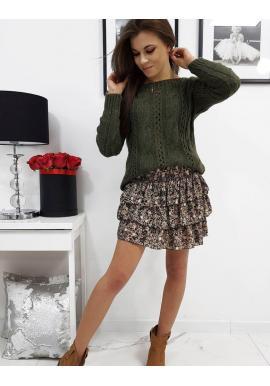Dámsky štýlový sveter v zelenej farbe