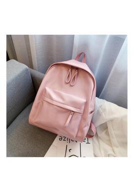 Ružový klasický ruksak z ekokože pre dámy