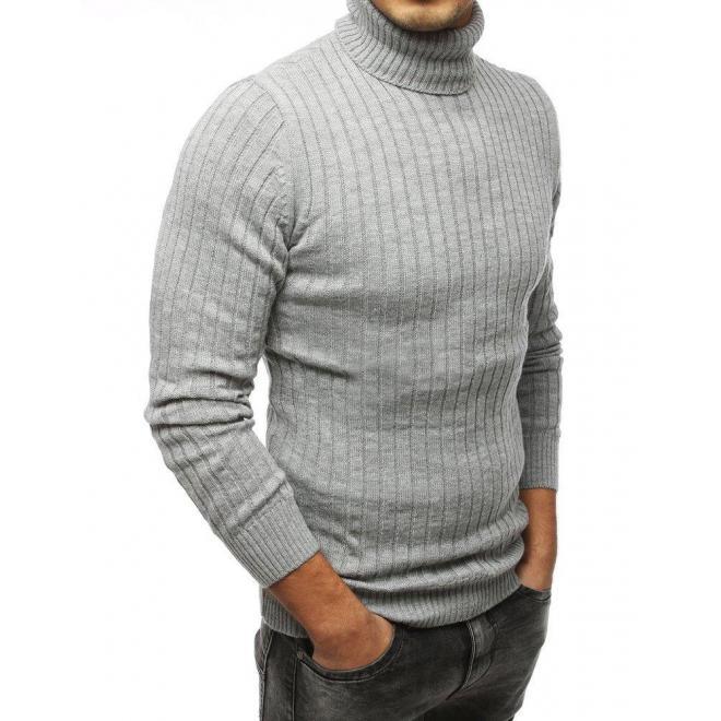 Štýlový pánsky rolák sivej farby