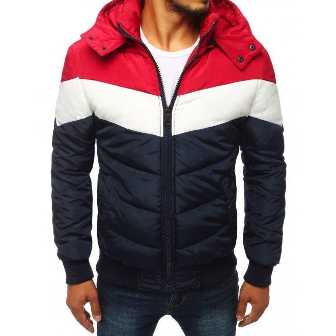 Tmavomodrá zimná bunda s odopínacou kapucňou pre pánov