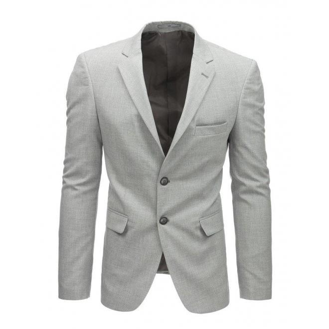 Pánske jednoradové sako v neformálnom štýle v tmavomodrej farbe