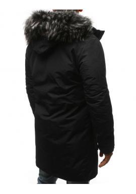 Zimná pánska Parka čiernej farby s odopínacou kapucňou
